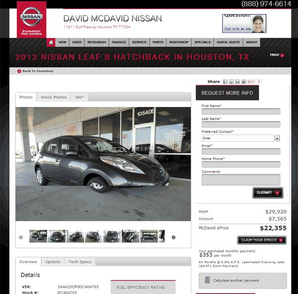 David McDavid Nissan Houston, TX View Dealer Ad