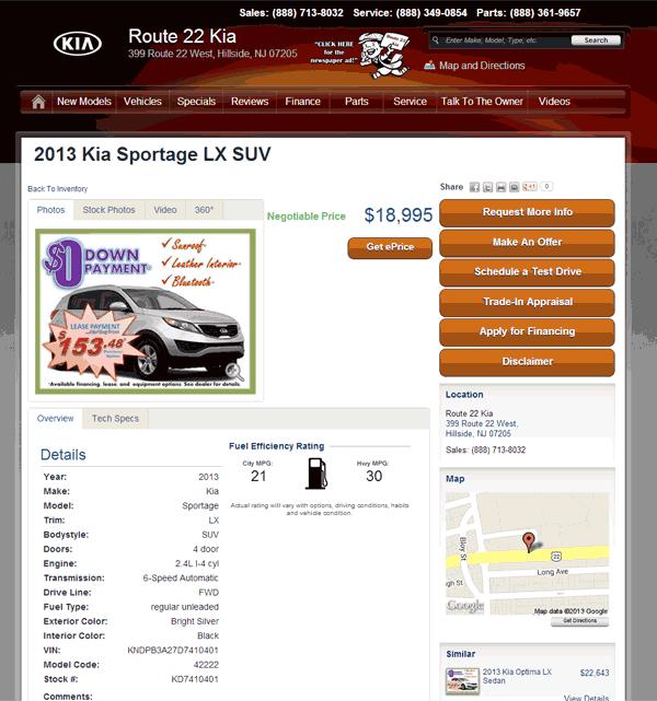 2013 Kia Sportage Ex: 2013 Kia Sportage Real Dealer Prices